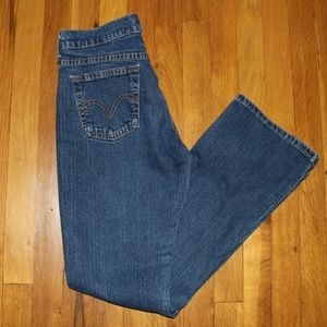 Levi's 515 Boot Cut Jeans Women's 4 Red Tab